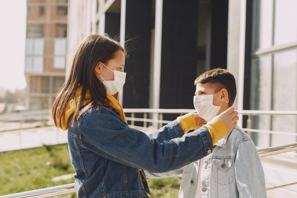 Apsauginės kaukės (nuotr. Pexels)