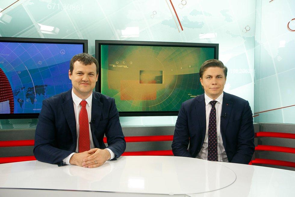 Gintautas Paluckas, Mindaugas Sinkevičius (nuotr. Tv3.lt/Ruslano Kondratjevo)