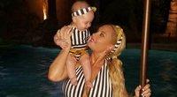 Coco Austin su dukrele (nuotr. Instagram)