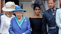 Karalienė, Meghan Markle ir princas Harry (nuotr. SCANPIX)