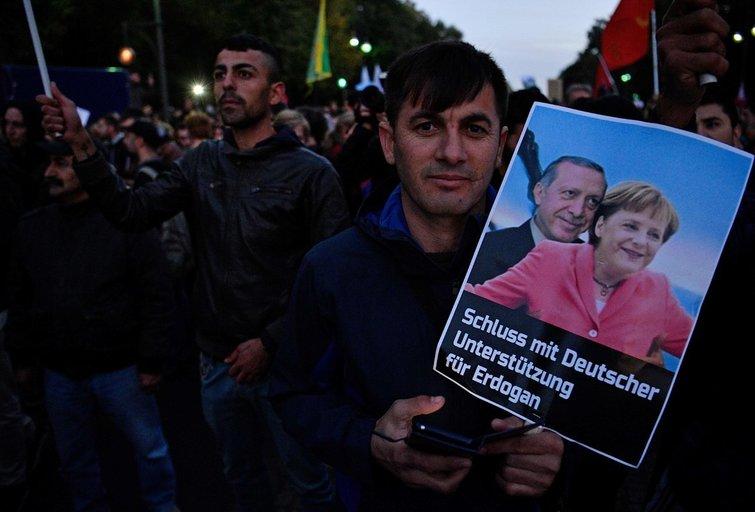 R. Erdoganas ir A. Merkel (nuotr. SCANPIX)