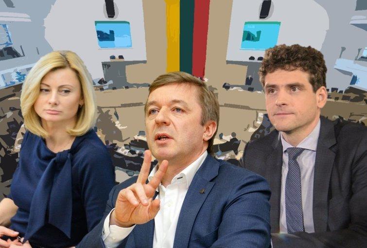 Rita Tamašunienė. Ramūnas Karbauskis. Remigijus Žemaitaitis (tv3.lt fotomontažas)