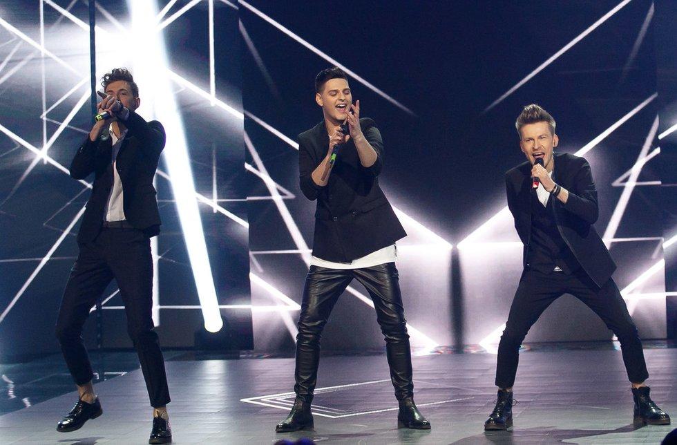 "Septintoji ""Eurovizijos"" atrankos transliacija (nuotr. Tv3.lt/Ruslano Kondratjevo)"