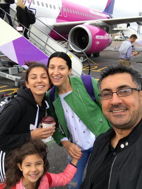 Andra Narkūnaitė-Alqadhi su šeima