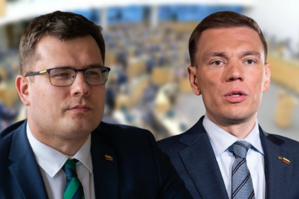 Laurynas Kasčiūnas ir Mindaugas Puidokas (tv3.lt koliažas)