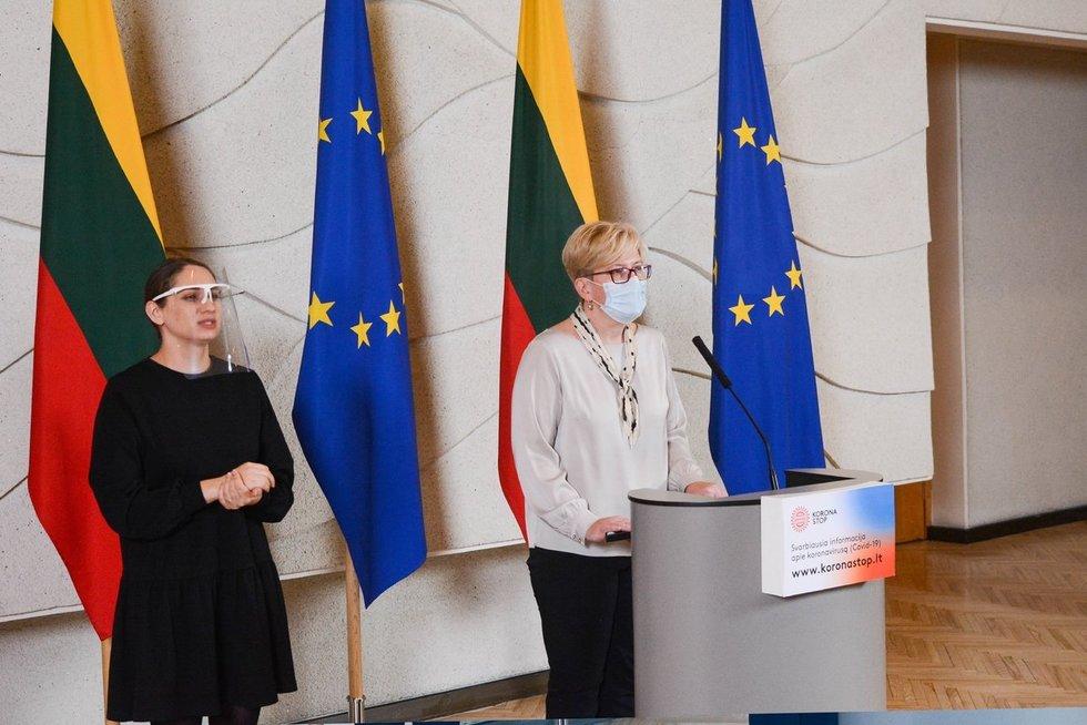 Pirmajame Vyriausybės posėdyje – karantino griežtinimas (nuotr. Fotodiena/Justino Auškelio)