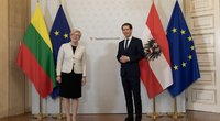 Premjerė I. Šimonytė susitiko su Austrijos Respublikos Kancleriu S. Kurzu (LRVK/Laima Penek nuotr.)