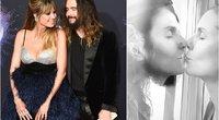 Heidi Klum ir Tom Kaulitz bučinys (tv3.lt fotomontažas)