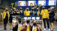 """Grupės """"The Roop"""" išlydėtuvės Vilniaus oro uoste (Irmantas Gelūnas/Fotobankas)"""
