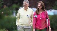 Billas Gatesas su žmona (nuotr. SCANPIX)