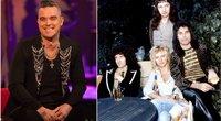 """Robbie Williams ir grupė """"Queen"""" (tv3.lt fotomontažas)"""