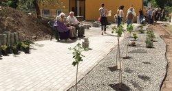 Panevėžio miesto teismų darbuotojai įrengė sodą senelių globos namų gyventojams