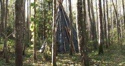 Aplinkosaugininkai suka galvas, kaip miške atsirado indėniška palapinė ir kas joje gyvena