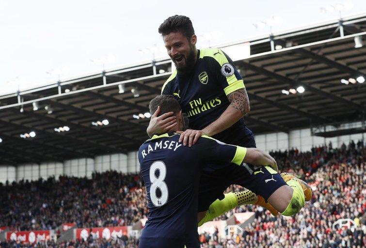 """Stoke City"" – Londono ""Arsenal"" 1:4 (nuotr. SCANPIX)"