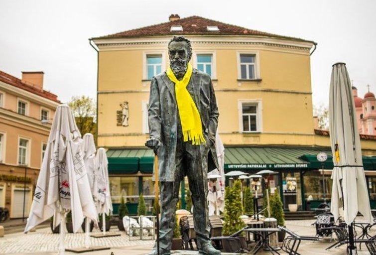 """Vilniaus skulptūros ruošiasi """"Eurovizijai"""""""