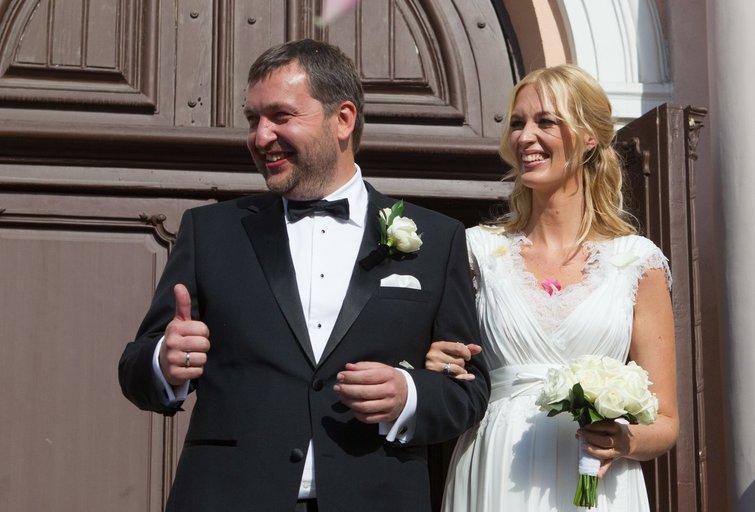 Antanas Guoga ir Aistė Guogienė per vestuves (Fotobankas)