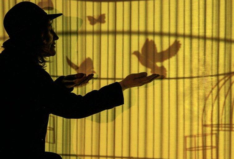 "Spektaklio ""Kanarėlės pranašystė"" eskizo fragmentas. Teodoro Gigos Butėno nuotr."