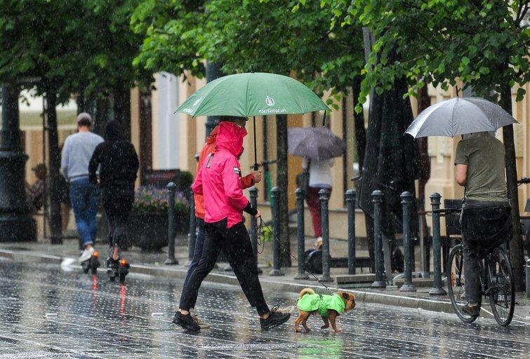 Lietus, orai (Fotodiena/ Viltė Domkutė)