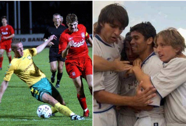 Stevenas Gerrardas ir Luka Modričius