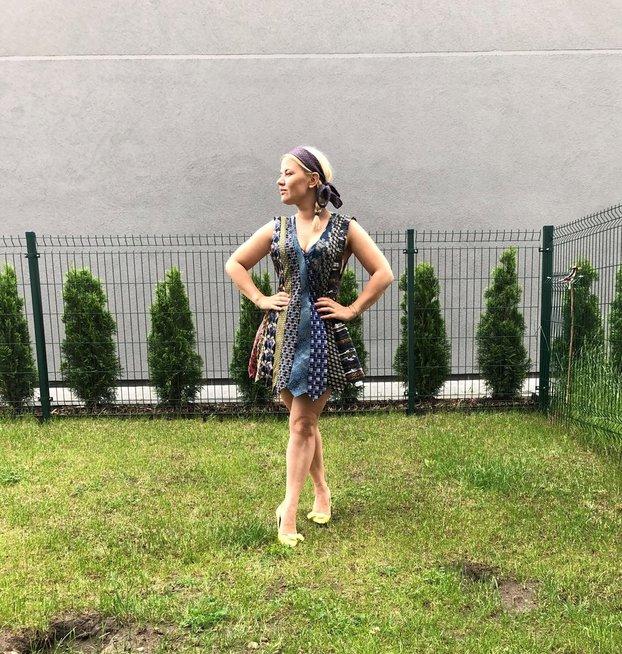 Aktoriaus M. Jampolskio žmona Renata Jampolskė save atrado drabužių dizaine