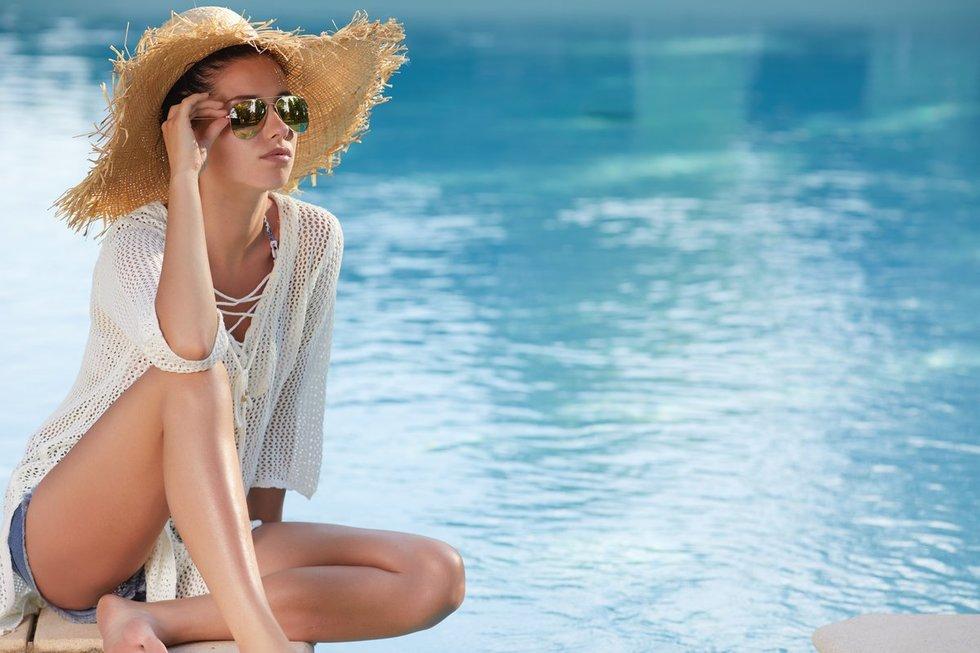 Saulės poveikis plaukams - kenksmingas (nuotr. Fotolia.com)