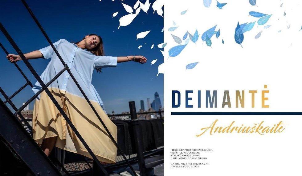 """Deimantė Andriuškaitė ant žurnalo """"The LA Fashion"""" viršelio"""