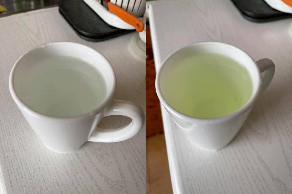Šaltas (dešinėje) ir karštas (kairėje) vanduo