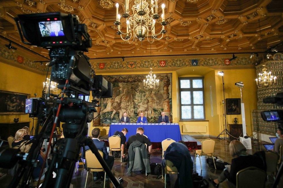 Laisvės partijos spaudos konferencija po rinkimų