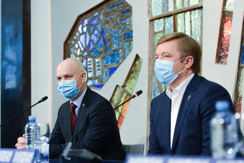 Rytas po rinkimų – valstiečių spaudos konferencija (nuotr. Justinas Auškelis/Fotodiena)