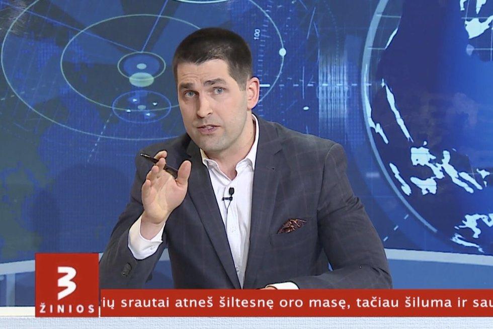 Tokių žinių dar nebūsite girdėję: TV3 Žinių vedėjas Artūras Anužis naujienas skaitė žemaitiškai (nuotr. stop kadras)