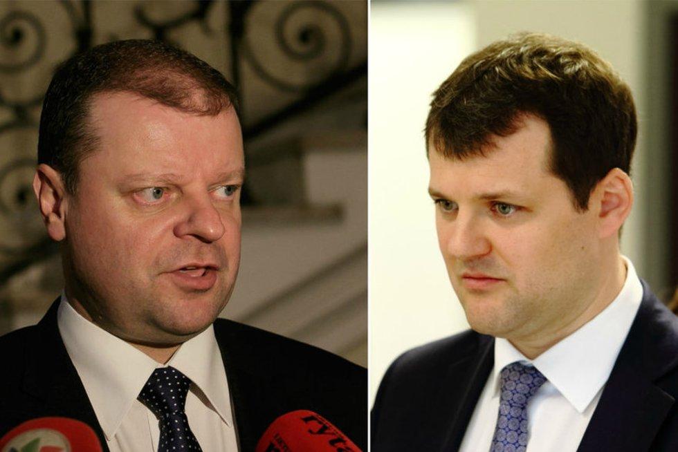 Saulius Skvernelis ir Gintautas Paluckas (nuotr. TV3)