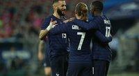 Prancūzijos rinktinė draugiškose rungtynėse 3:0 sutriuškino dešimtyje rungtyniauti likusius Velso futbolininkus.. (nuotr. SCANPIX)