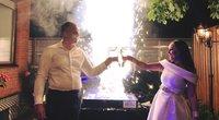 """Inga ir Darius Budriai atšventė krištolines vestuvių metines  (nuotr. asmeninio albumo (""""Facebook"""")"""
