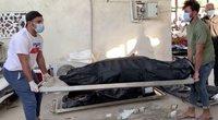 Sprogus deguonies balionui Irako ligoninėje kilo gaisras – žuvo 64 žmonės (nuotr. stop kadras)