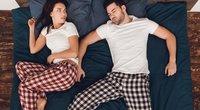 "Miego poza ""Erdvės vagis"" (nuotr. Shutterstock.com)"