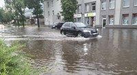 Grėsminga audra jau talžo Lietuvą: vėjas laužo šakas, kai kur gatvės dėl lietaus nepravažiuojamos (nuotr. Bronius Jablonskas/TV3))