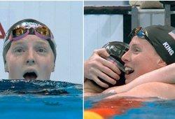 Pamatykite septyniolikmetės plaukikės emocijas – netikėtai išplėšė auksą