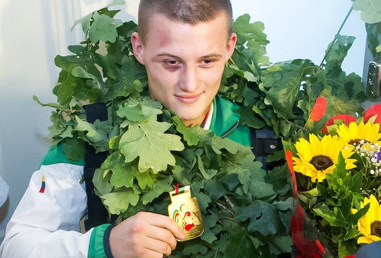 Lietuvos boksininkų sutiktuvės  (nuotr. Tv3.lt/Ruslano Kondratjevo)