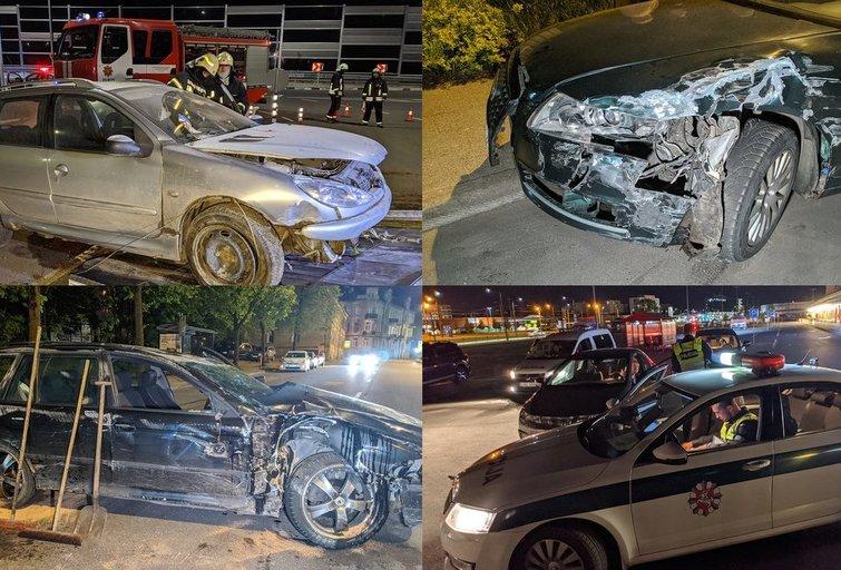 Vilniuje girti vairuotojai daužė automobilius (tv3.lt fotomontažas)