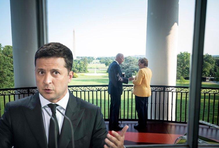 """Žiniasklaida: Ukrainai liepta """"patylėti"""" JAV ir Vokietijos derybų dėl """"Nord Stream-2"""" klausimu (nuotr. SCANPIX) tv3.lt fotomontažas"""