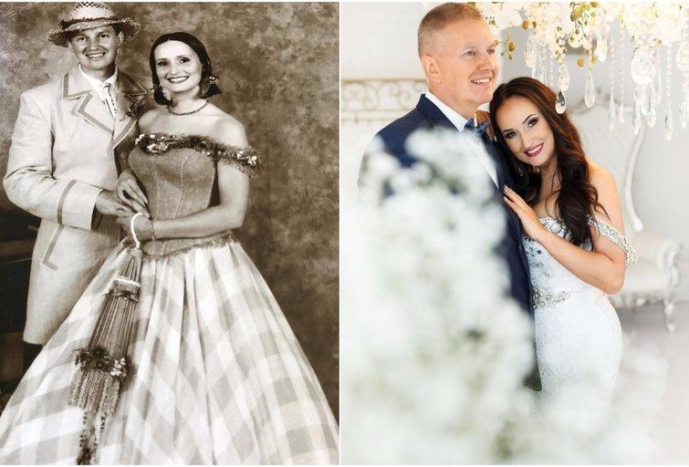 Inga ir Darius Budriai per savo vestuves ir penkioliktąsias vestuvių metines (nuotr. asm. archyvo)