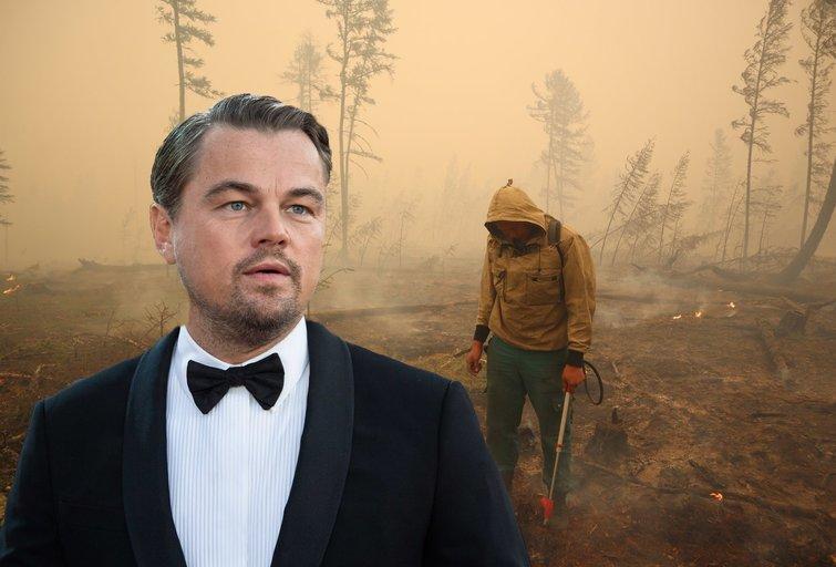 Gaisrus Rusijoje kviečiamas gesinti ir L. DiCaprio (nuotr. SCANPIX) tv3.lt fotomontažas