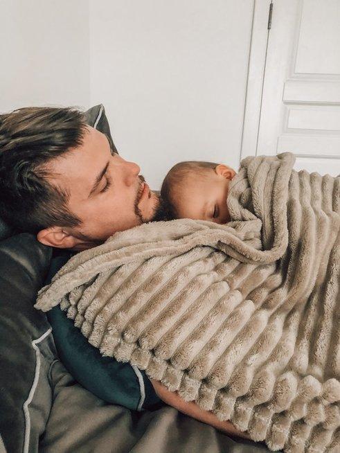 Ovidijus Petrauskas su dukrele