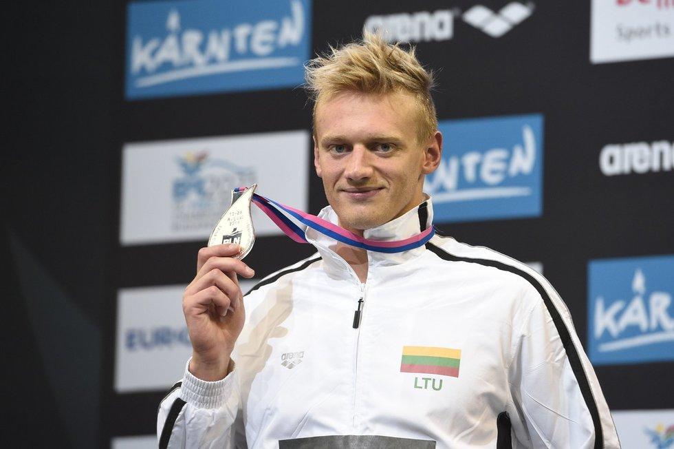 G. Titenis 2014 m. Europos čempionate iškovojo tris medalius