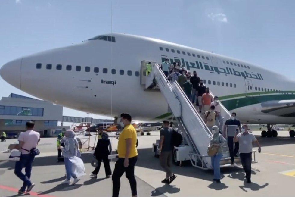 Gabrieliaus Landsbergio prašymų Irakas neišgirdo: dvigubina skrydžius į Minską (nuotr. stop kadras)