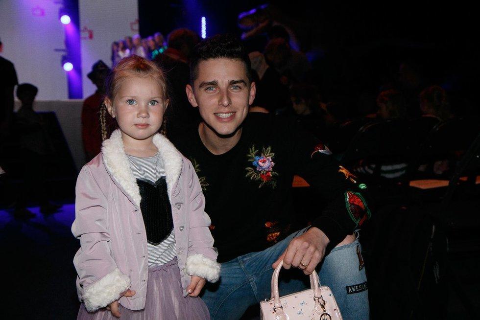 Donatas Montvydas su dukra Adele  (nuotr. Tv3.lt/Ruslano Kondratjevo)