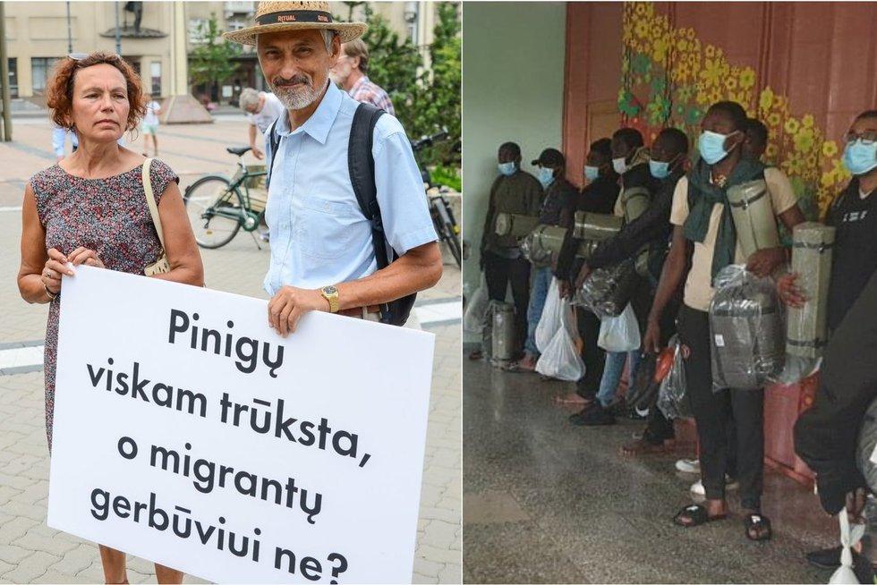 Šešelgytė: pasiektas tam tikras virimo taškas gali iššaukti radikalias visuomenės reakcijas į migrantus (tv3.lt koliažas)