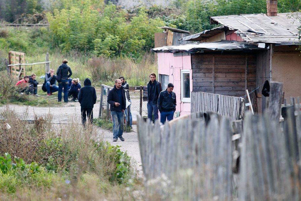 Romų taboras (nuotr. Tv3.lt/Ruslano Kondratjevo)