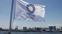 Olimpinių žaidynių vėliava (nuotr. SCANPIX)