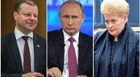 Saulius Skvernelis. Vladimiras Putinas. Dalia Grybauskaitė (tv3.lt koliažas)